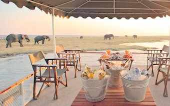 A photo of a Chobe Under Canvas camp