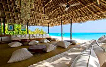 A photo of Beach Lounge at Mnemba Island Lodge